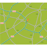 Abstract road map Stock Photos