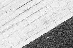 Abstract road marking fragment on asphalt Royalty Free Stock Images