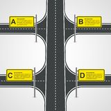Abstract Road And Street Business Infographic Design Concept. Stock Photo