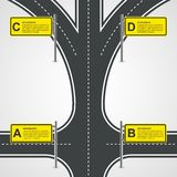 Abstract Road And Street Business Infographic Design Concept. Stock Image