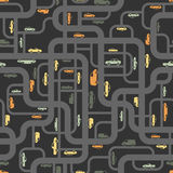 Abstract roads seamless pattern Royalty Free Stock Image
