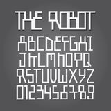 Abstract Robot Alphabet and Digit Vector Stock Images