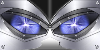 Abstract robot eye background Royalty Free Stock Photography