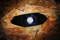 Abstract robot eye background. Generation of high-tech robotic eyes Stock Photography