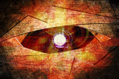 Abstract robot eye background. Generation of high-tech robotic eyes Stock Photo
