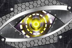 Abstract robot eye. Generation of high-tech robotic eyes Stock Photography