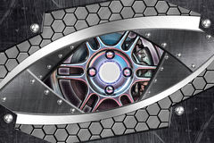Abstract robot eye Stock Photos