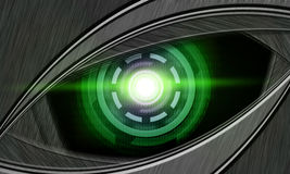Abstract robot eye. Generation of high-tech robotic eyes Royalty Free Stock Images
