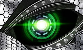 Abstract robot eye Royalty Free Stock Photo