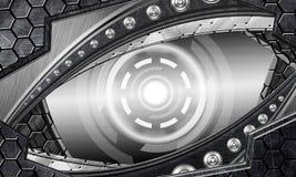 Abstract robot eye. Generation of high-tech robotic eyes Royalty Free Stock Photos