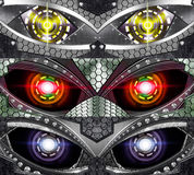Abstract robot eye Stock Photo