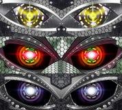 Abstract robot eye. Generation of high-tech robotic eyes Stock Photo