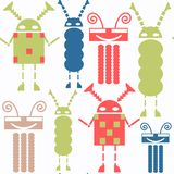 Abstract robots seamless pattern. Colorful background for surface design royalty free stock image