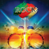 Abstract rock music background Stock Photo