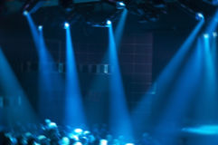 Abstract Rock Music Concert Stage Show Concept. Abstract rock music concert and stage act concept background. Crowd and fans representation can be seen wathing