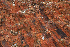 Abstract rock texture from Pyrenees mountain in Portugal Stock Photo