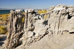 The delicate sand tufas on Navy Beach at Mono Lake, California Stock Photography