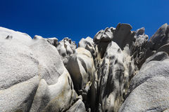 Abstract rocks and blue sky Stock Photos