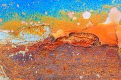 Abstract roestig metaal voor achtergrond Stock Afbeelding