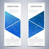 Abstract Roll up banner for presentation and publication. Science, technology and business templates. Structure of Royalty Free Stock Image