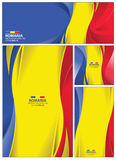 Abstract Romania Flag Background Stock Image