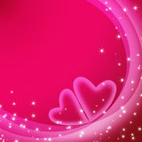 Abstract romantic background. With hearts and stars Stock Photo