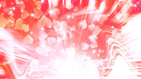 Abstract romantic background. With hearts and stars Royalty Free Stock Images