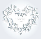 Abstract romantic background with butterflies. Royalty Free Stock Photography