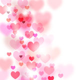Abstract romantic background with flying hearts Royalty Free Stock Image