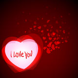 Abstract Romantic Background with Hearts Stock Photo
