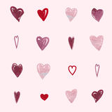 Abstract romantic background pattern. Watercolor heart Stock Photography