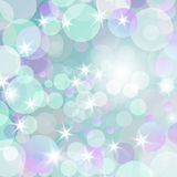 Abstract romantic  bokeh background. Abstract romantic  bokeh background with a stars and  glow Royalty Free Stock Photo
