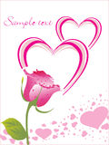 Abstract-romantic card with text Stock Photo