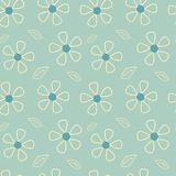 Abstract romantic daisy flowers seamless pattern background illustration Royalty Free Stock Photography