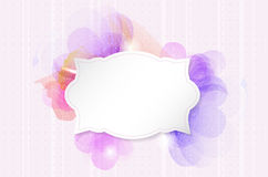 Abstract romantic flower background with paper retro frame Stock Photography