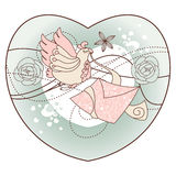 Abstract romantic  illustration Stock Image