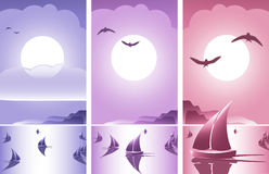 Abstract Romantic Sunset Banner Royalty Free Stock Photos