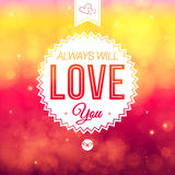 Abstract romantic Valentine card. Soft blurry background. Royalty Free Stock Image