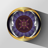 Abstract rond cijfer Stock Afbeelding