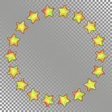 Abstract Rond Kader van Sterren met Holografisch Effect royalty-vrije illustratie