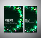 Abstract rond kaderontwerp Brochure bedrijfsontwerpmalplaatje of broodje omhoog Stock Afbeeldingen