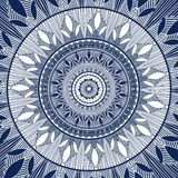 Abstract rond ornament Blauwe ornamentvector Royalty-vrije Stock Afbeelding
