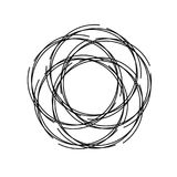 Abstract rond spiraalvormig malplaatje voor het embleem Abstract rond malplaatje Zwarte vlek om banners te creëren Vector illustr Stock Afbeelding