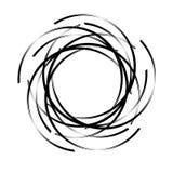 Abstract rond spiraalvormig malplaatje voor het embleem Abstract rond malplaatje Zwarte vlek om banners te creëren Vector illustr vector illustratie