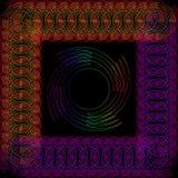 Abstract rond voorwerp in een kader dat van draad wordt gemaakt Vector Illustratie