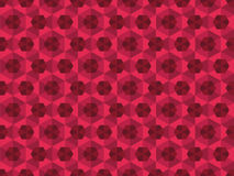 Abstract rood caleidoscopisch patroon Stock Afbeelding