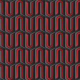 Abstract rood en zwart Hexagon patroon Stock Afbeeldingen