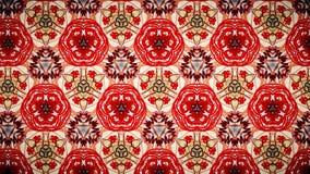 Abstract rood geeloranje lijnbehang royalty-vrije stock afbeeldingen