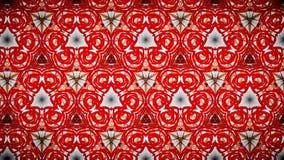 Abstract rood geeloranje lijnbehang Stock Afbeelding