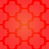 Abstract Rood Geometrisch Retro Patroon Stock Afbeeldingen